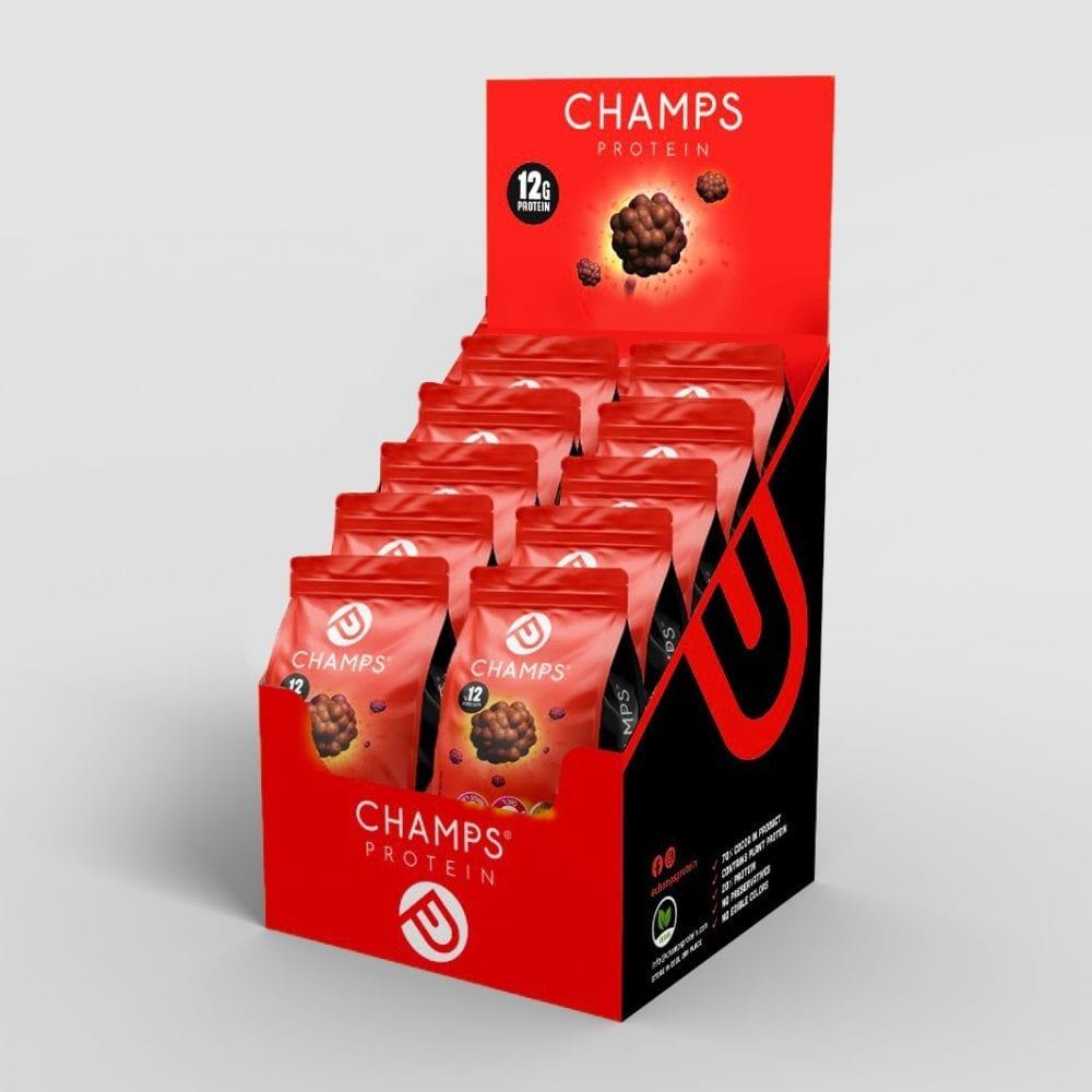 CHAMPS – אנרגיה שוקולד חלב-  מארז 10 שקיות